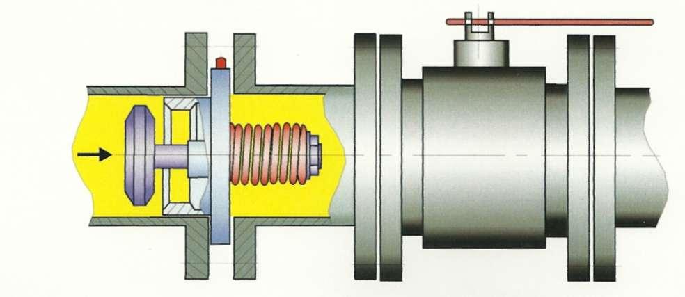 установка термозапорного клапана